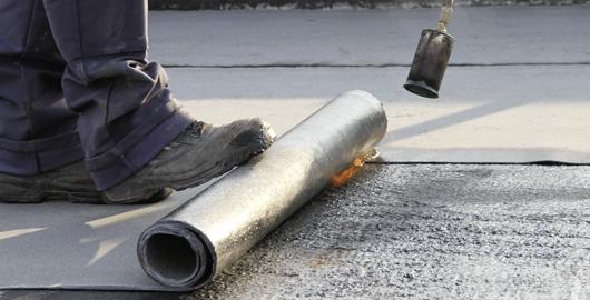Aufbringung der Dampfsperre