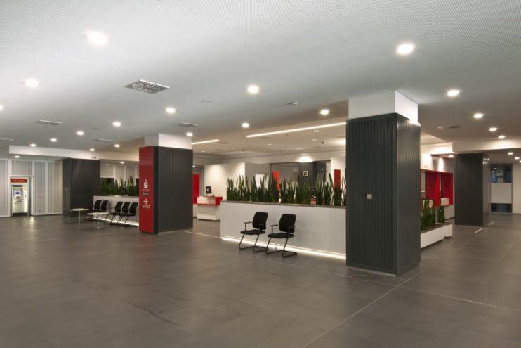die neue Kundenhalle der Kreissparkasse