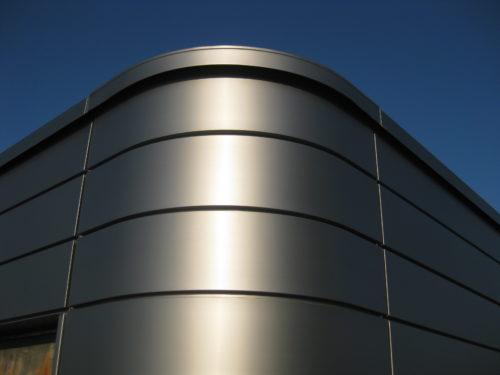 Steckfalzpaneel Titanzink runde Ecke